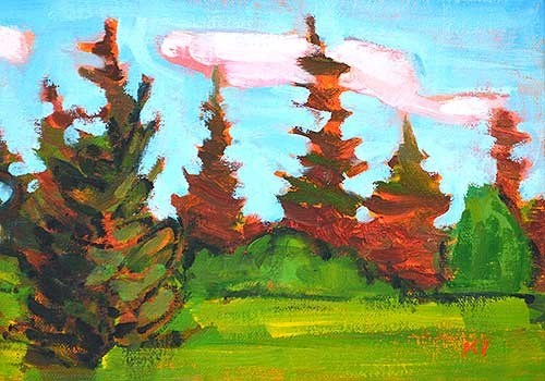 """""""Back to McCall"""" original fine art by Kevin Inman"""