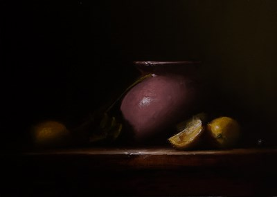 """Violet with Lemon"" original fine art by Neil Carroll"