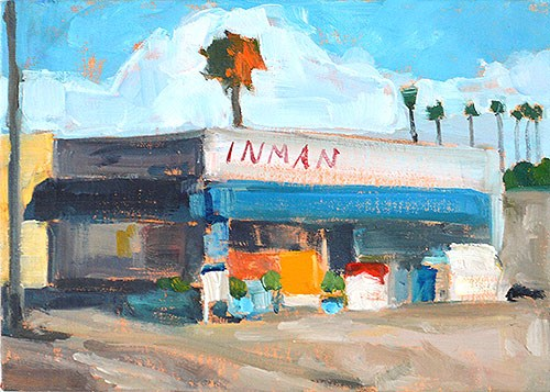 """Gas Station, Ocean Beach Painting"" original fine art by Kevin Inman"