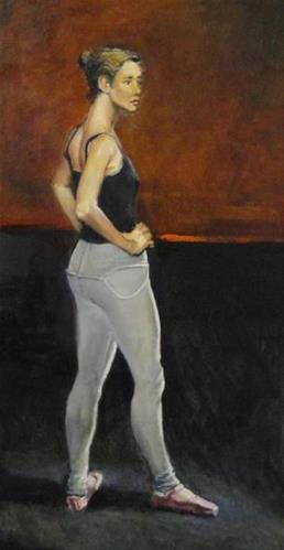 """Practice Time"" original fine art by Kirk Miller"