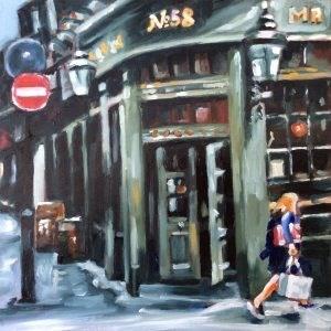 """English Pub"" original fine art by Sonja Neumann"