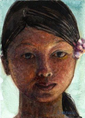 """Watercolor: Reflected Light"" original fine art by Belinda Del Pesco"