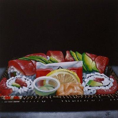 """Rainbow Roll"" original fine art by Jelaine Faunce"