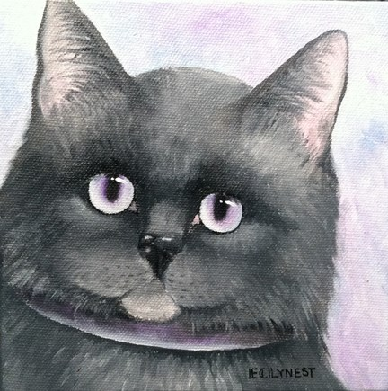 """The Grey Kitty"" original fine art by Elaine Lynest"