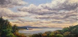 """Hudson River from Kingston"" original fine art by Jamie Williams Grossman"