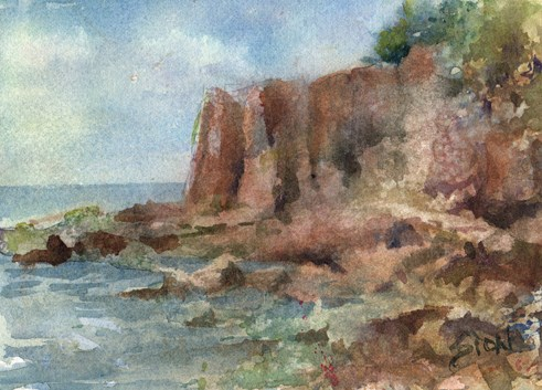 """Acadia National Park"" original fine art by Sue Dion"