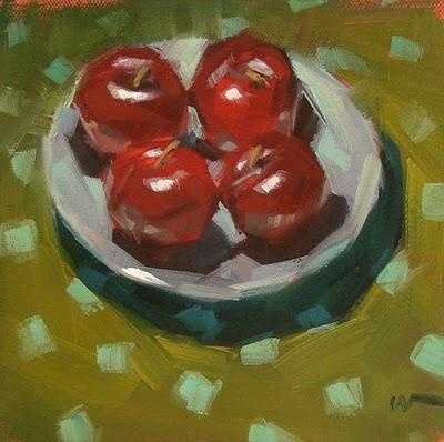 """Plum Dots --- SOLD"" original fine art by Carol Marine"