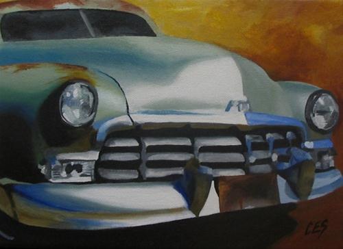 """""""1950 Mercury"""" original fine art by ~ces~ Christine E. S. Code"""