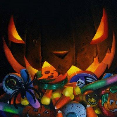 """""""October Challenge  6x6x3"""" original fine art by M Collier"""