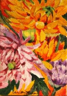 """Dahlias in August"" original fine art by JoAnne Perez Robinson"