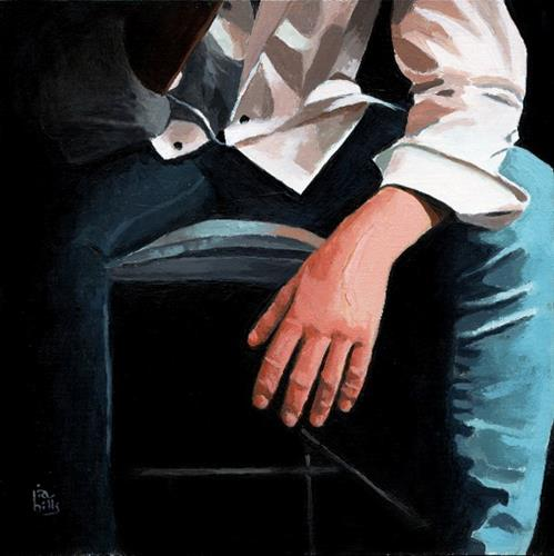 """""""Time for Pause acrylic figurative painting"""" original fine art by Ria Hills"""