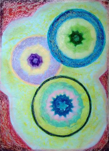 """Crystals"" original fine art by Adéla Svobodová"