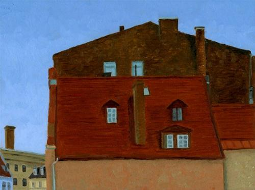 """Riga, Latvia"" original fine art by Nancy Herman"