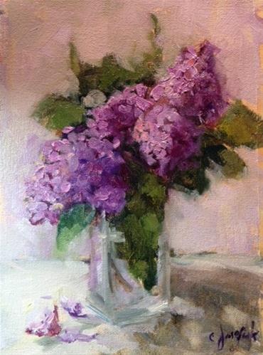 """April Showers Bring May Flowers"" original fine art by Carol Josefiak"