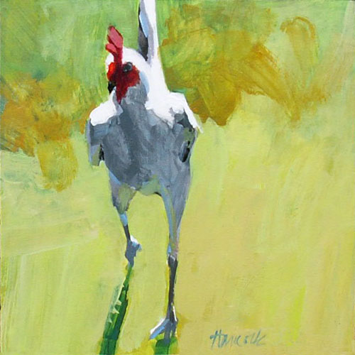 """Game Cock"" original fine art by Gretchen Hancock"