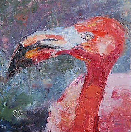 """""""Flamingo"""" original fine art by Carol DeMumbrum"""