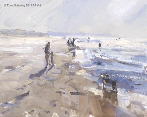 """Afternoon walk - Seascape spring 4 (available) zeegezicht"" original fine art by Roos Schuring"