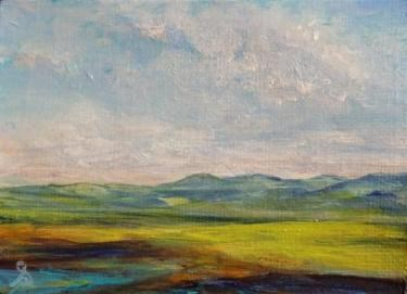 """""""3166 - FOOTHILLS ACEO - National Parks Series"""" original fine art by Sea Dean"""