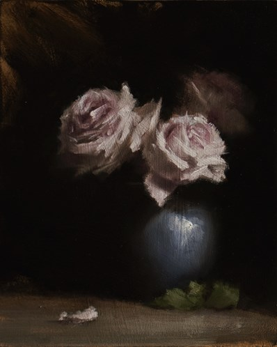 """Roses in Vase"" original fine art by Neil Carroll"