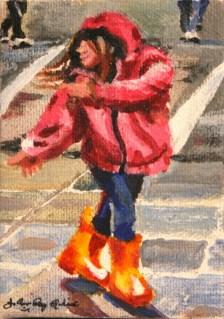 """Rain Dance"" original fine art by JoAnne Perez Robinson"