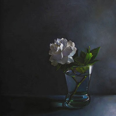 """Gardenia No. 2    8x8"" original fine art by M Collier"