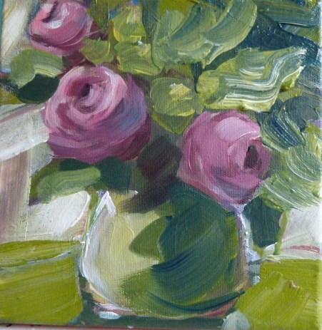 """""""Tearoses"""" original fine art by Sabine Hüning"""