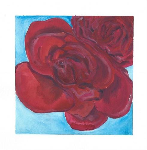 """""""Roses are Red"""" original fine art by Laura Denning"""