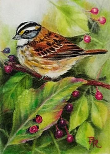 """Ladybug Paradise"" original fine art by Paulie Rollins"