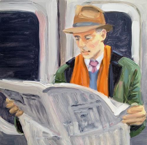 """Commuting"" original fine art by Deborah Newman"