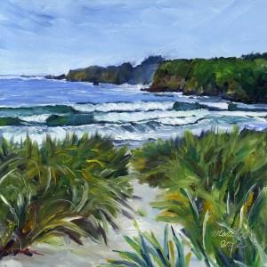 """""""Casper Beach in Spring"""" original fine art by Mariko Irie"""