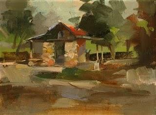 """""""Smoke House"""" original fine art by Qiang Huang"""