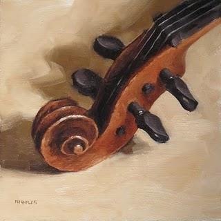 """Violin Scroll"" original fine art by Michael Naples"