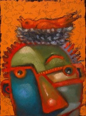 """Crown Of Feathers"" original fine art by Brenda York"