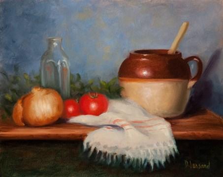 """""""Is it Soup Yet #1407"""" original fine art by Dee Lessard"""