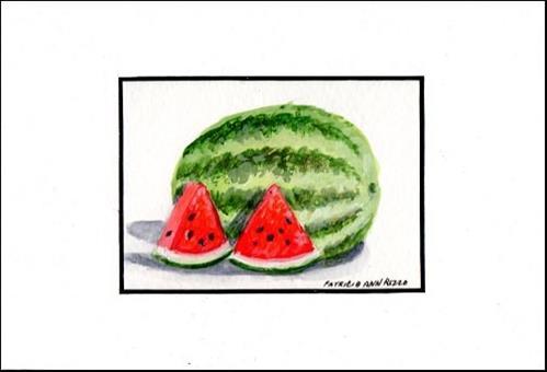 """""""Ice Cold Watermelon"""" original fine art by Patricia Ann Rizzo"""