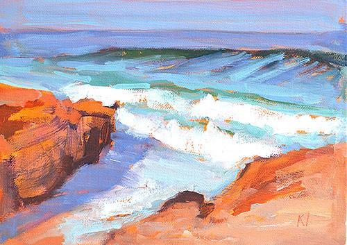 """""""Windansea Beach, La Jolla"""" original fine art by Kevin Inman"""