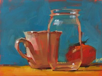 """Jarring --- SOLD"" original fine art by Carol Marine"
