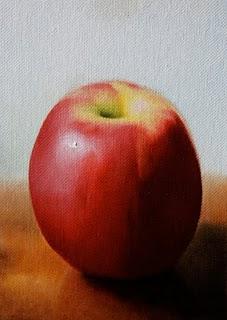 """Apple"" original fine art by Jonathan Aller"