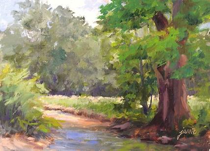 """Old Maple by the Creek"" original fine art by Jamie Williams Grossman"