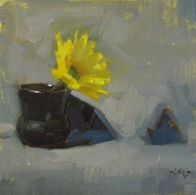 """Little Black Dress"" original fine art by Carol Marine"