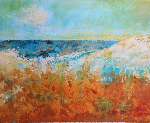 """""""Beach Dunes, Contemporary Landscape Paintings by Arizona Artist Amy Whitehouse"""" original fine art by Amy Whitehouse"""