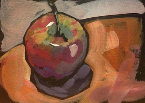 """""""Warm Red"""" original fine art by Kat Corrigan"""