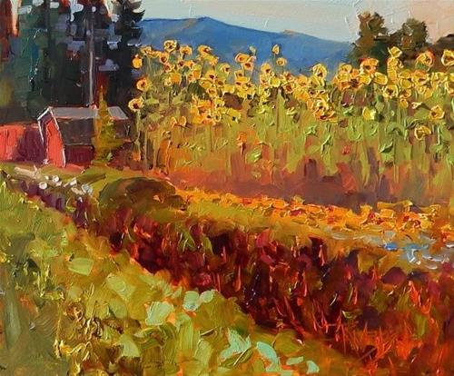 """Rainbow Farm Paint the Peninsula 2015, plein air oil painting by Robin Weiss"" original fine art by Robin Weiss"