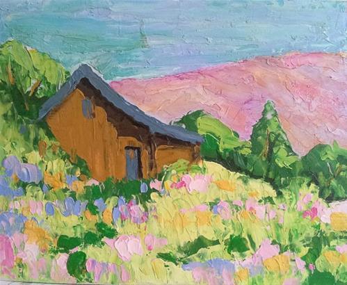 """""""Farm Garden"""" original fine art by lynne french"""