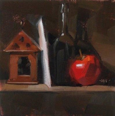 """""""Shelved"""" original fine art by Carol Marine"""