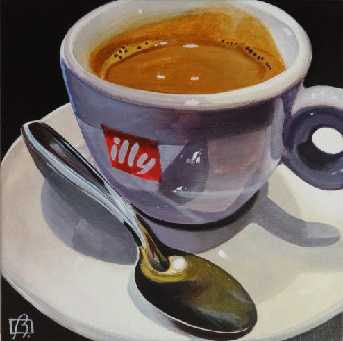 """""""Just one more cup"""" original fine art by Andre Beaulieu"""