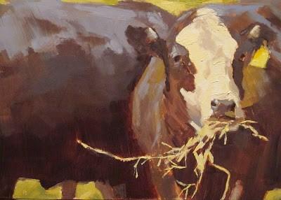 """FEEDING TIME - Tag #9"" original fine art by Helen Cooper"