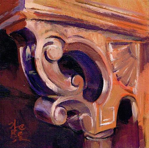 """""""Piano Scrollwork"""" original fine art by Theresa Taylor Bayer"""