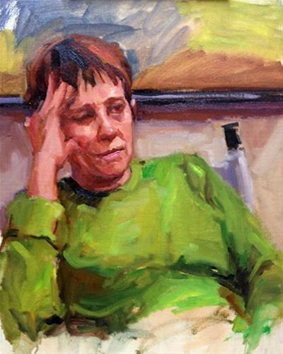 """Talkin about Art"" original fine art by Laurie Johnson Lepkowska"