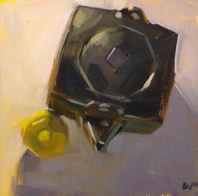 """Square Tea & workshop"" original fine art by Carol Marine"
